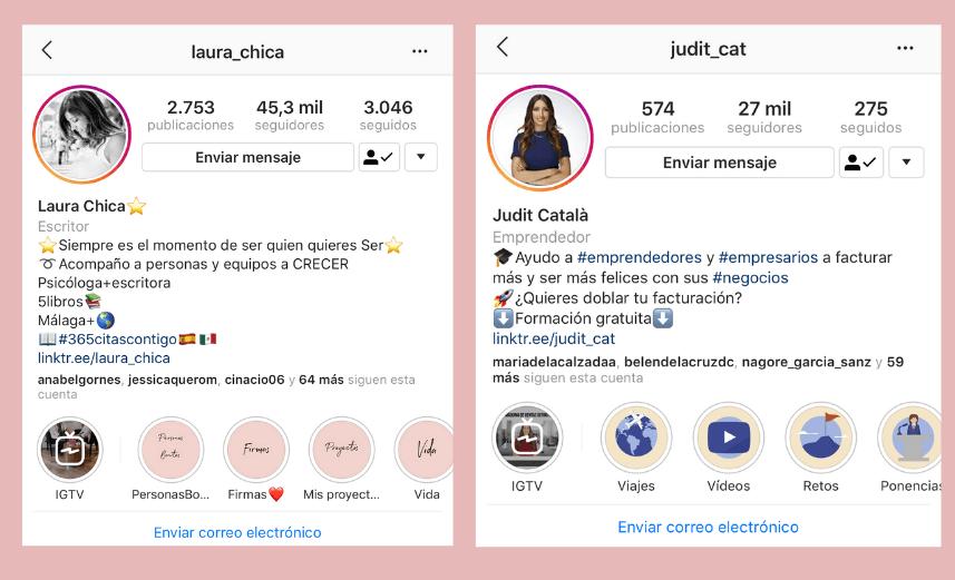 biografia de instagram ejemplos