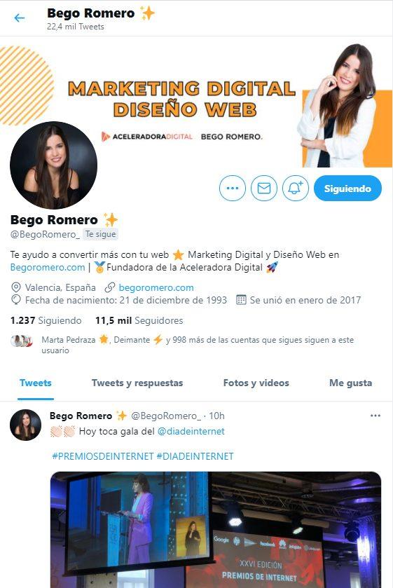 marca personal Bego Romero